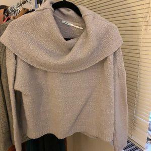 Gray Cowl Neck Sweater - Kimchi Blue, M